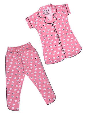 Girls Night Suit Pink 4148