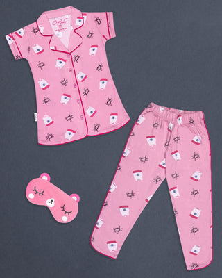 Girls Night Suit Pink 4181