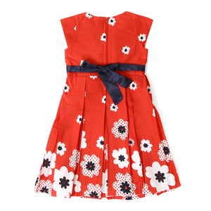 Flower Printed Red Frock