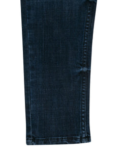 Boys Fashion Fix Waist Dark Blue Jeans