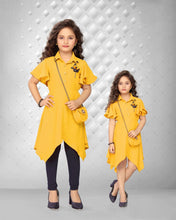 Load image into Gallery viewer, Yellow Top With Legging & Side Pocket Set
