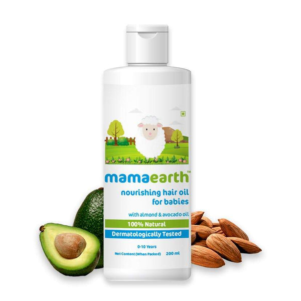 Nourishing Hair Oil for Babies with Almond & Avocado Oil