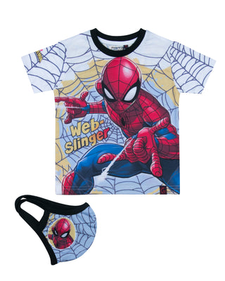 Spiderman fancy t-shirt With Mask for boys Black 293067
