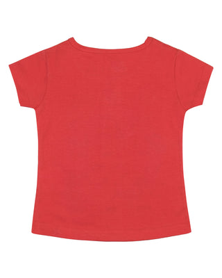 Girls Casual Top Red 391006 C