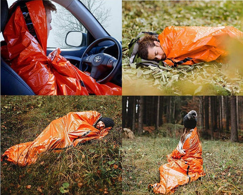 image showing various uses of emergency bivvy