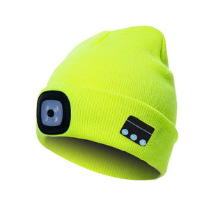 LED Light Wireless bluetooth Hat Knitted Hat Outdoor Fishing Climbing Hiking Cap