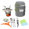 Camping Cookware Set With Burner