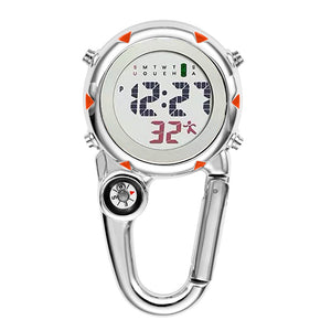 Digital Carabiner Clip Sport Hook Clock Hospital Gift Electronic Luminous Multi-function FOB Nurse Watch Outdoor Sport Watch