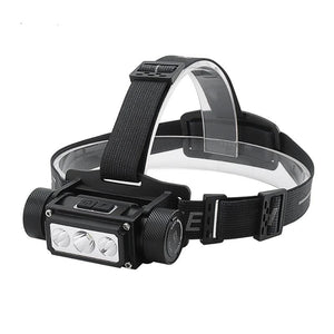 BORUiT B39 XM-L2+2*XP-G2 LED Headlamp Memory Function Headlight 21700/18650 USB TYPE-C Rechargeable Head Torch Camping Hunting
