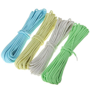 50ft Nylon Reflective Paracord Parachute Cord String 9 Core 550lb Luminous Glow Camping Hiking Rope