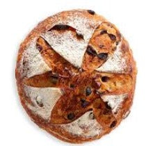 Miche noisette, raisins, miel