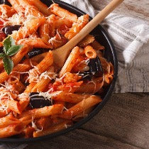 Penne alla norma (tomates, aubergines) VG
