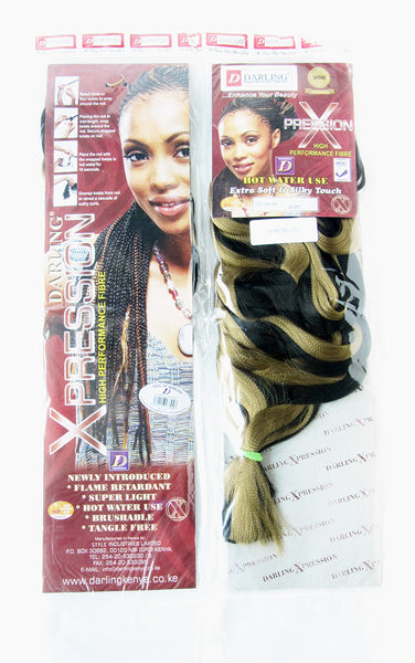 Front and back images of our 52 inch Expression braid packets