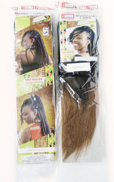 Sample packet of our short Ghanaian line braids