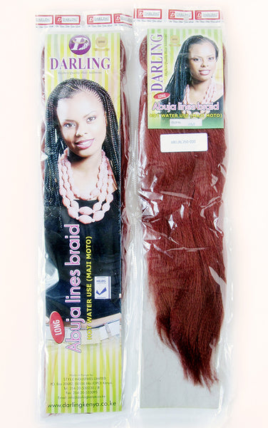 Front and back images of sample abuja line packets. Color shown: 350 (copper red)