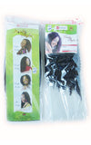 Sample packets highlighting the front and back of our fluffy kinky hair extensions for braiding