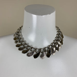 Vintage Silver Choker Length Necklace