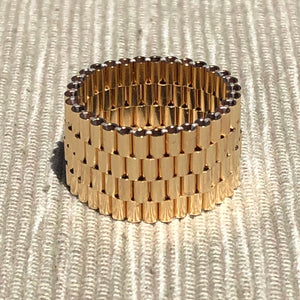 Smooth Gold-Filled Beaded Band