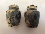 Doulton Burslem (1886-1902) Pepper Pot and Mustard Pot