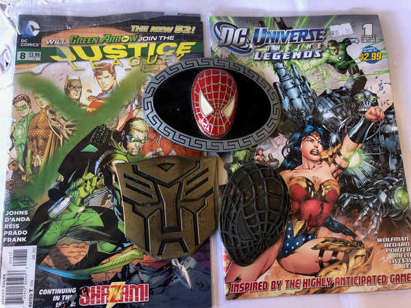 Comics and Metal Marvel Character Belt Buckles