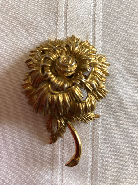 Gold colour Floral Brooch