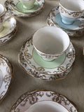 Beautiful Royal Vale 8 Piece Cup, Saucer and Plate Set, 2 Cake Plates and Milk Jug