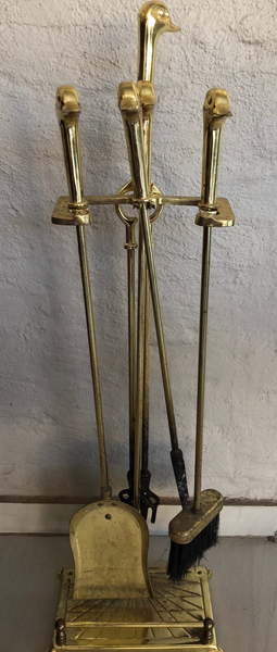 Brass Fire Irons Set