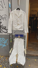 Load and play video in Gallery viewer, Reserved! Comme des Garçons white wrinkled suit