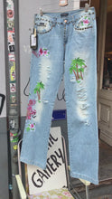 Load and play video in Gallery viewer, Dolce and Gabbana tropical embroidered jeans