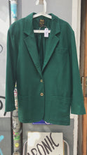 Load and play video in Gallery viewer, Vintage Celine Paris green wool jacket