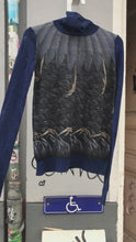 Load and play video in Gallery viewer, John Richmond wool jumper with bird prints
