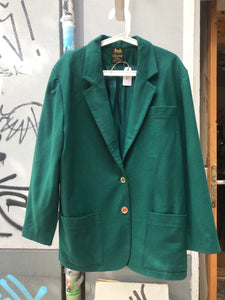 Vintage Celine Paris green wool jacket