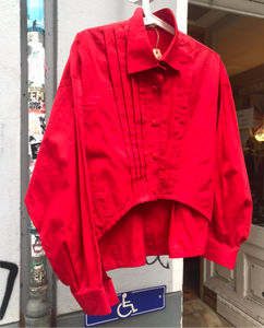 Claude Montana Red asymmetrical shirt
