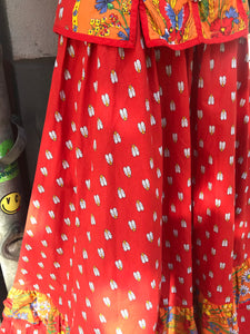 French dress with cicada prints