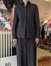 Load image into Gallery viewer, Prada puffy black nylon shirt Italian size 42 (Small size)