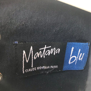Claude Montana denim zip up vest