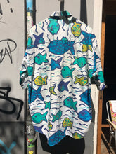 Load image into Gallery viewer, 80's Italian shirt with fish prints