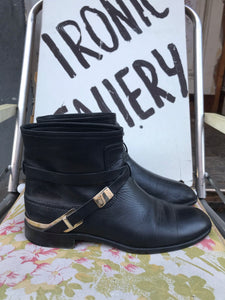 Christian Dior leather boots size 38.5