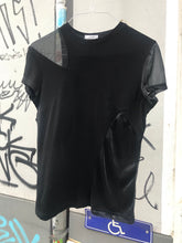 Load image into Gallery viewer, Gianni Versace black T-shirt with mesh panels