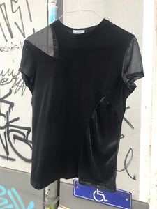 Gianni Versace black T-shirt with mesh panels