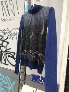 John Richmond wool jumper with bird prints