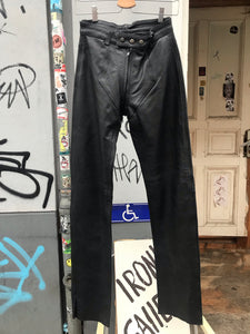 Double zip leather trousers