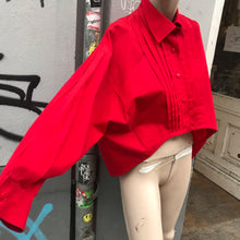 Load image into Gallery viewer, Claude Montana Red asymmetrical shirt