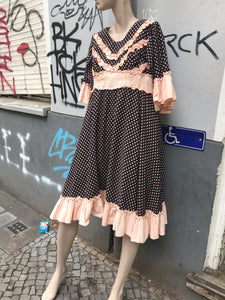 French vintage polka dot dress