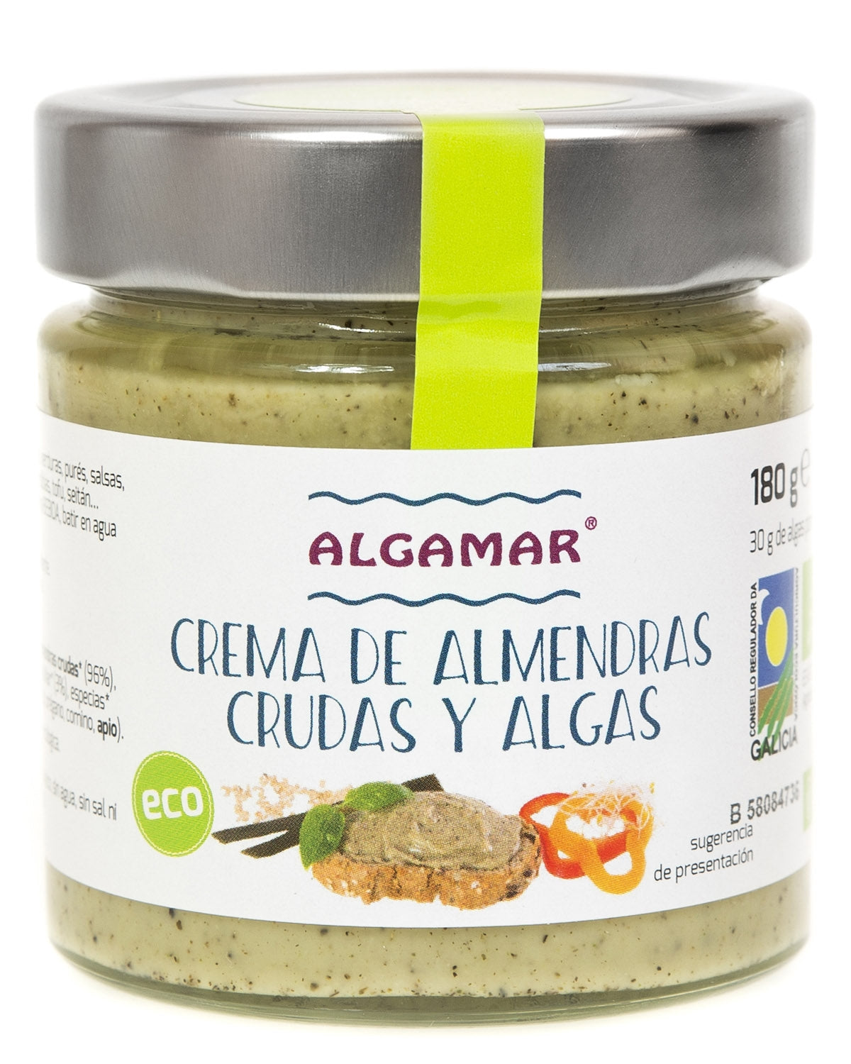 White Almond Butter with Sea Vegetables Organic (180g) - Algamar