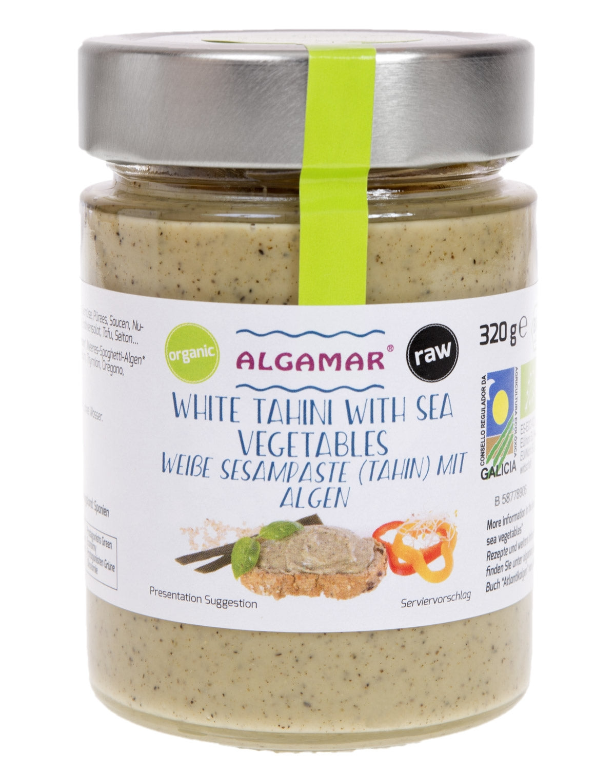 Tahini with Sea Vegetables Organic (320g) - Algamar