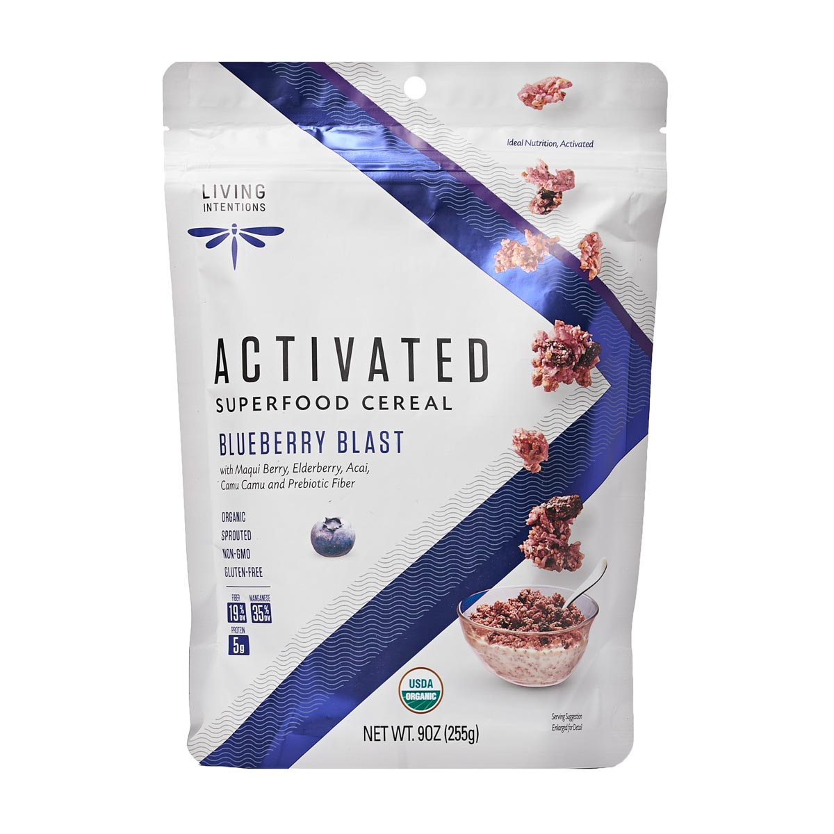 Super Food Cereal - Blueberry Blast (255g) - Living Intentions