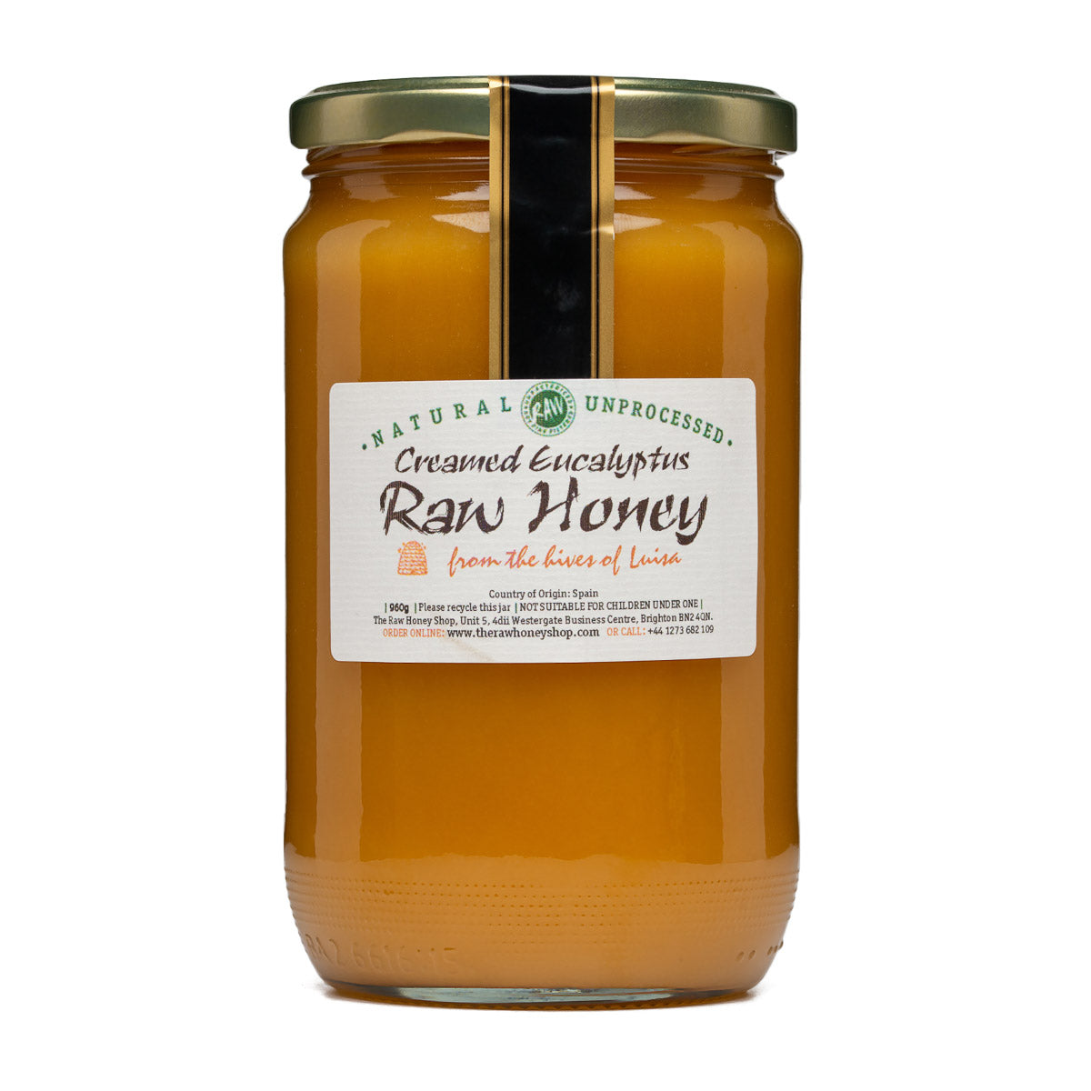 Raw Honey - Creamed Eucalyptus 960g