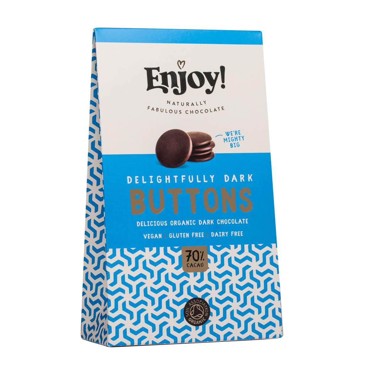 Enjoy Raw Chocolate - Delightfully Dark Buttons (96g)