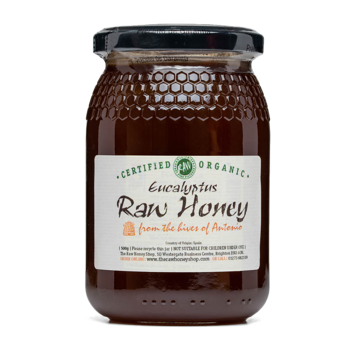 Raw Honey - Eucalyptus 500g (Organic)